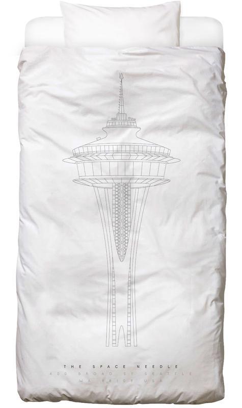 the space needle en linge de lit par mat voyce juniqe. Black Bedroom Furniture Sets. Home Design Ideas