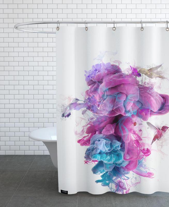 hummingbirds ink als duschvorhang von d niel taylor juniqe ch. Black Bedroom Furniture Sets. Home Design Ideas