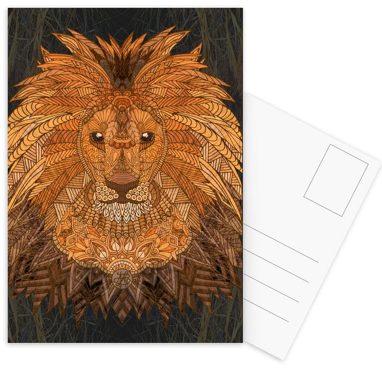 King Lion als Postkartenset von Angelika Parker | JUNIQE