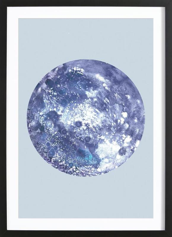 Earth blue as Poster in Wooden Frame by Julia Hariri | JUNIQE