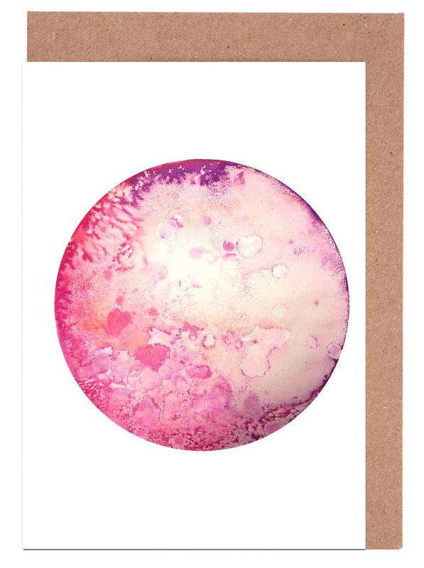 Pink moon as greeting card set by julia hariri juniqe home stationery greeting cards m4hsunfo