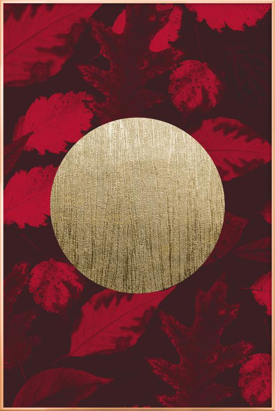 Gold Moon Red As Poster In Aluminium Frame By Julia Hariri Juniqe