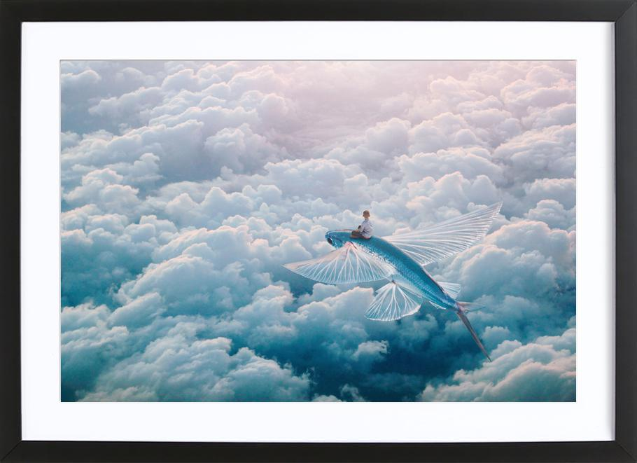 Plane as Poster in Wooden Frame by Eugene Soloviev | JUNIQE