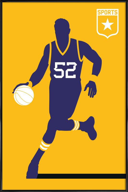 Basketball as Poster in Standard Frame by Bo Lundberg | JUNIQE