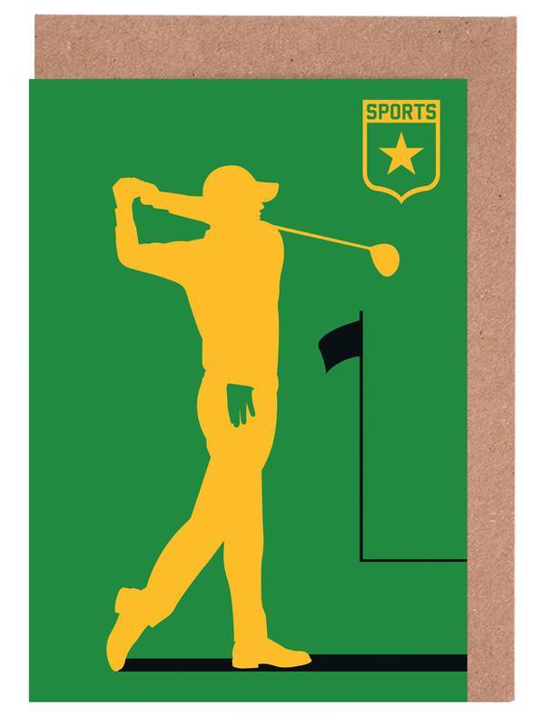 Golf as greeting card set by bo lundberg juniqe m4hsunfo