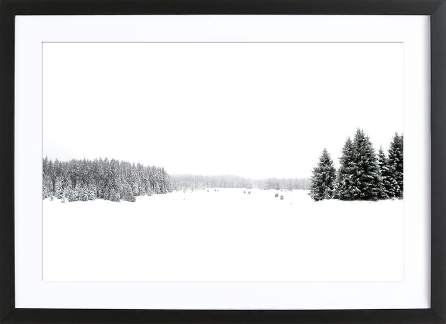 White White Winter as Poster in Wooden Frame by Studio Nahili ...