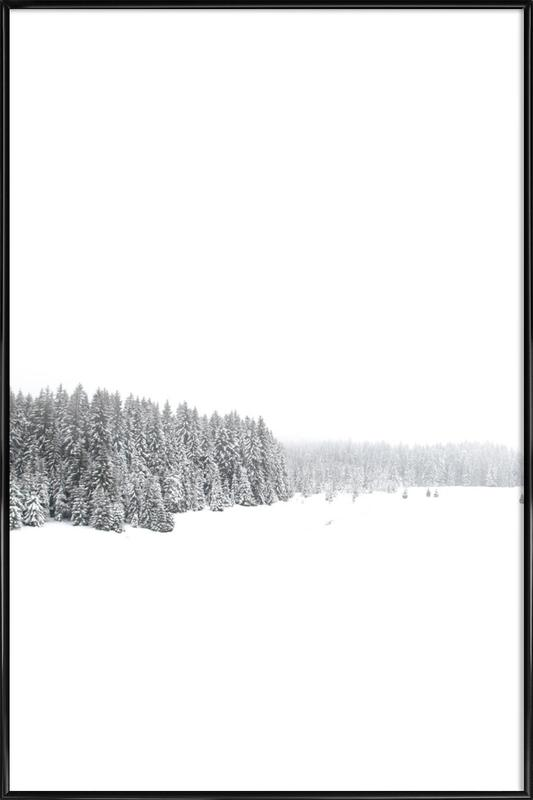 White White Winter 1/2 as Poster in Standard Frame | JUNIQE UK