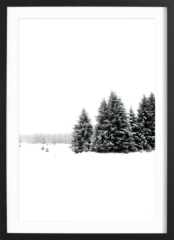 White White Winter 2/2 as Poster in Wooden Frame | JUNIQE UK