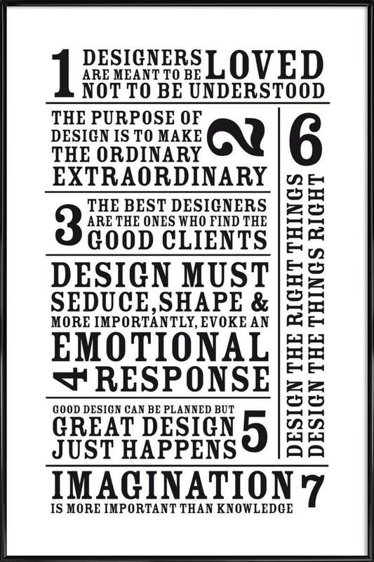 7 Rules as Poster in Standard Frame by Mr-Cup   JUNIQE