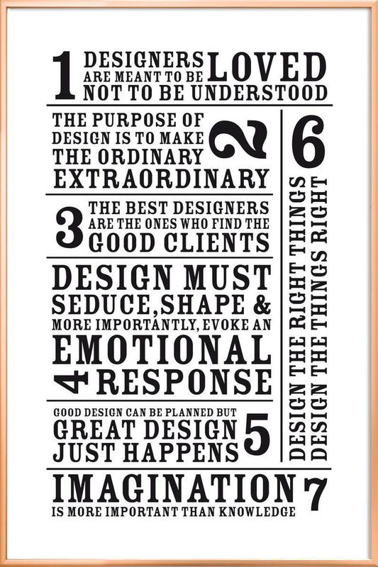 7 Rules as Poster in Aluminium Frame by Mr-Cup | JUNIQE