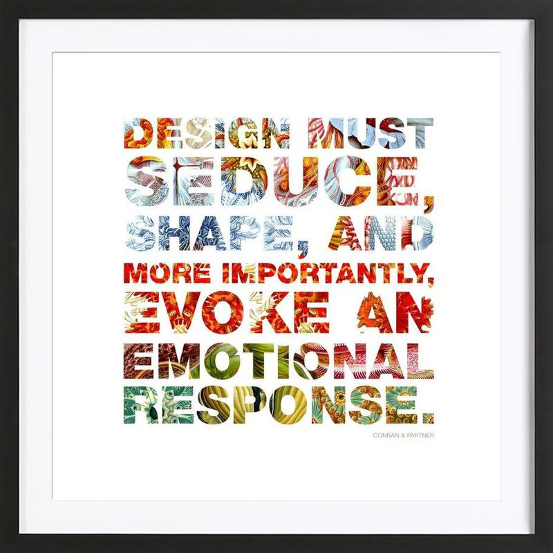 Creativesentenses 4 as Poster in Wooden Frame by Mr-Cup | JUNIQE