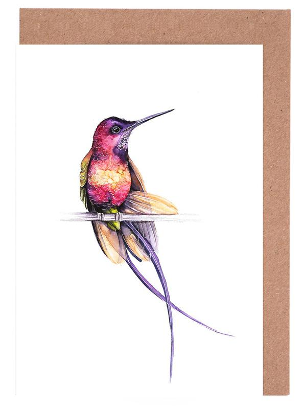 Hummingbird as greeting card set by karolina kijak juniqe m4hsunfo