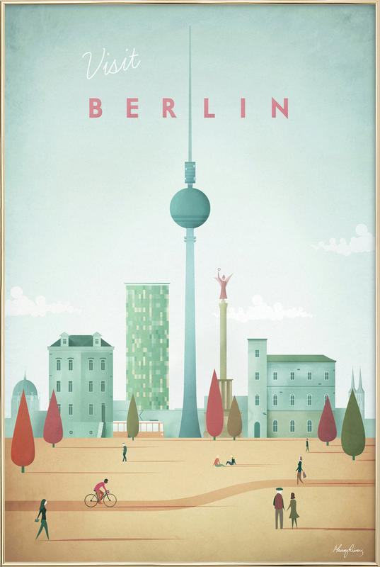 Berlin As Poster In Aluminium Frame By Henry Rivers Juniqe