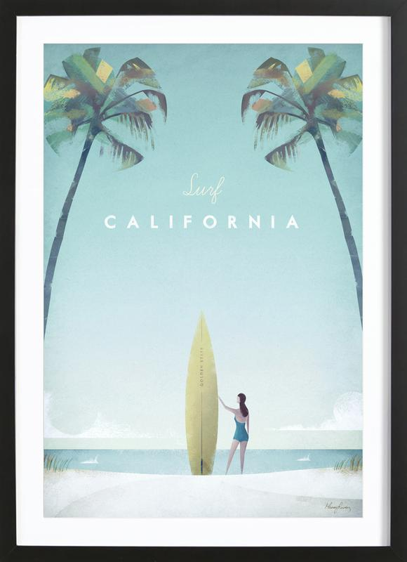 California as Poster in Wooden Frame by Henry Rivers   JUNIQE UK