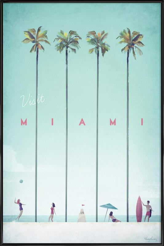 Miami as Poster in Standard Frame by Henry Rivers | JUNIQE