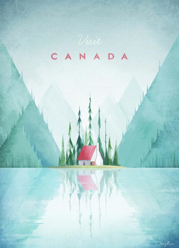 canada as canvas print by henry rivers juniqe