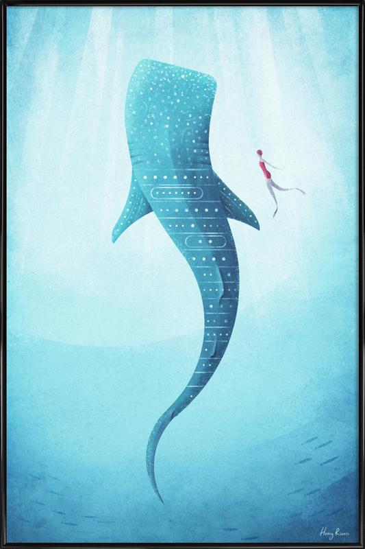 Whale Shark as Poster in Standard Frame by Henry Rivers | JUNIQE