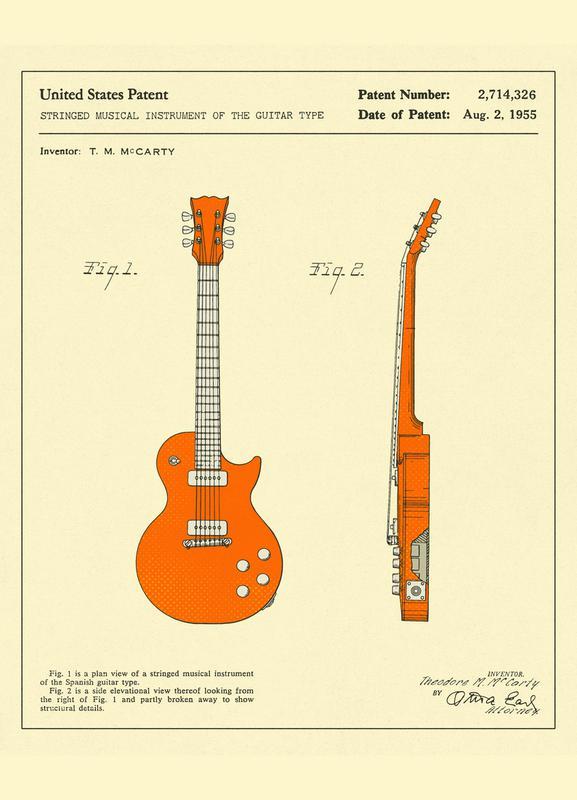 Guitar 2 as Canvas Print by Jazzberry Blue | JUNIQE