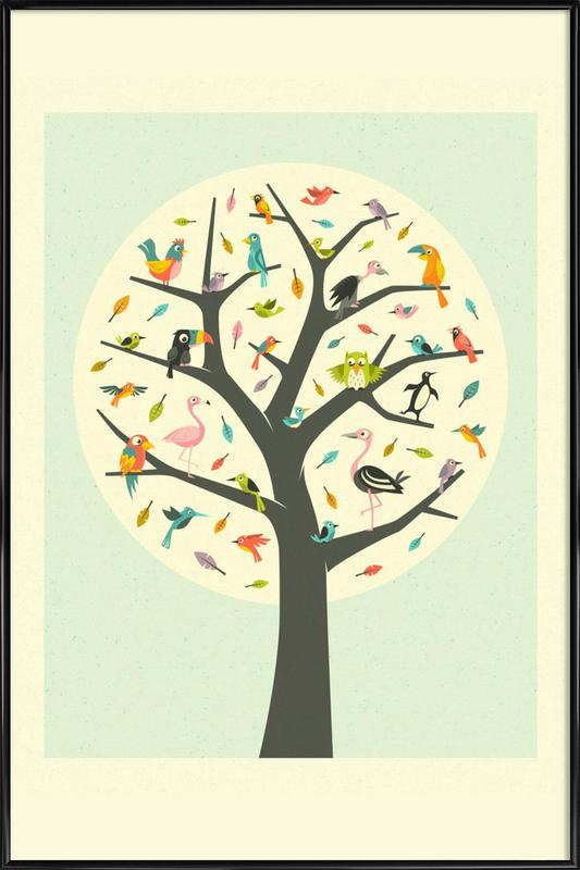 Tree Of Life As Poster In Standard Frame By Jazzberry Blue Juniqe Uk