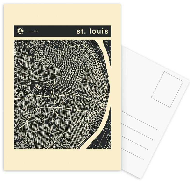 City Maps Series 3 - St. Louis als Postkartenset | JUNIQE