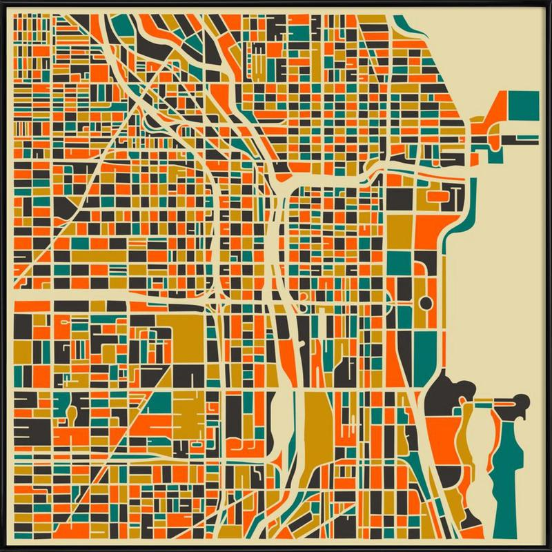 Chicago as Poster in Standard Frame by Jazzberry Blue | JUNIQE UK