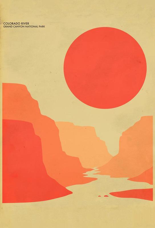 Grand Canyon National Park as Aluminium Print   JUNIQE