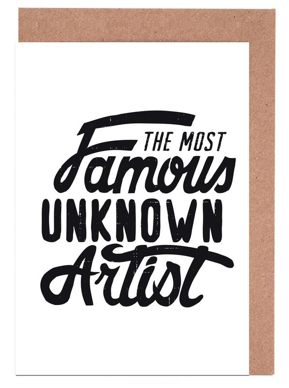 The most famous unknown artist as greeting card set juniqe m4hsunfo