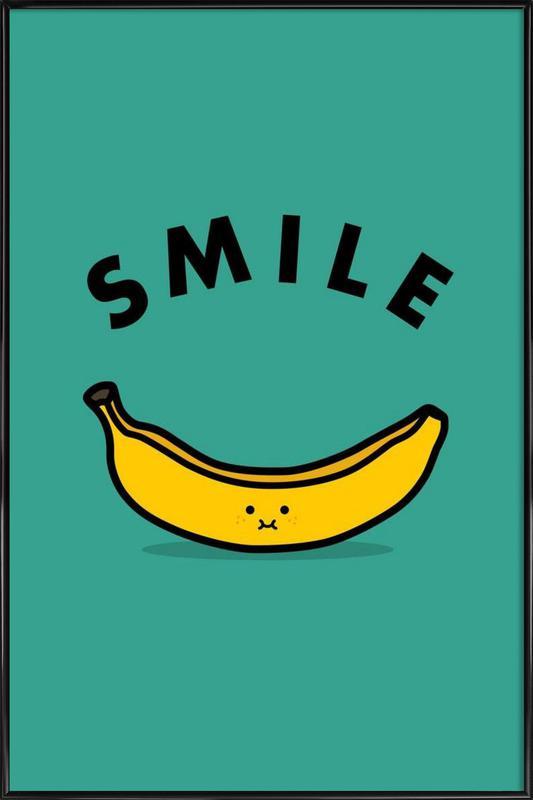 banana as poster in standard frame by jaco haasbroek juniqe