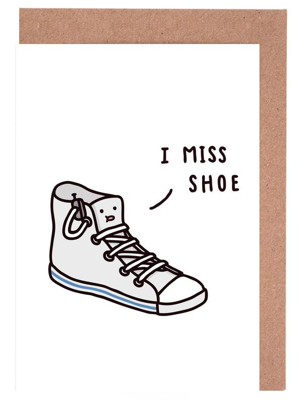 I miss shoe as greeting card set by jaco haasbroek juniqe home stationery greeting cards m4hsunfo