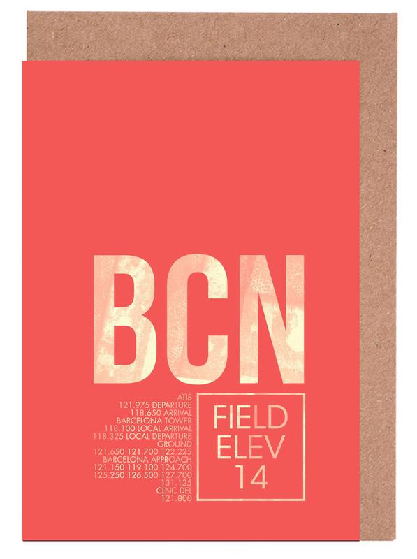 Bcn barcelona as greeting card set by 08left juniqe home stationery greeting cards m4hsunfo