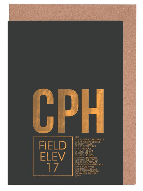Cph copenhagen as greeting card set by 08left juniqe home stationery greeting cards m4hsunfo