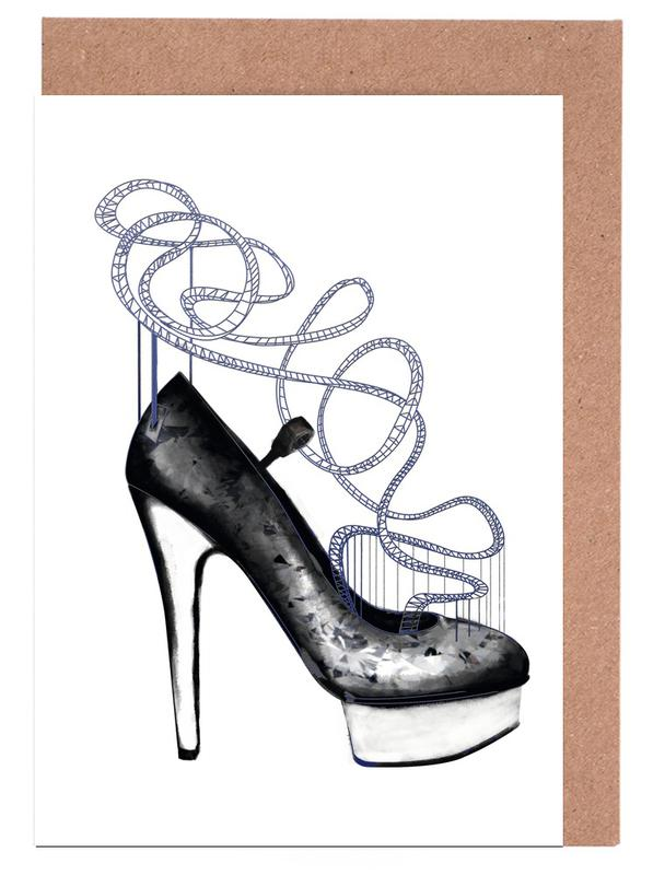 Blue shoe as greeting card set by peytil juniqe uk home stationery greeting cards m4hsunfo