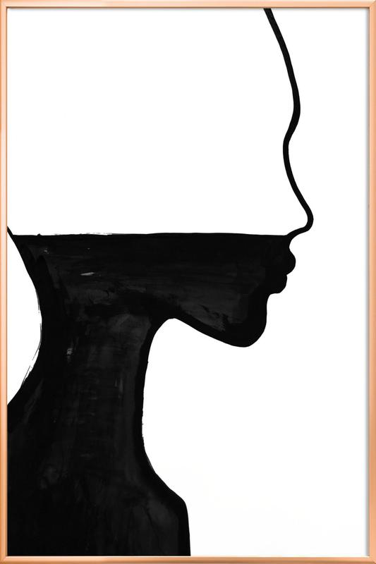 She as Poster in Aluminium Frame by Peytil | JUNIQE