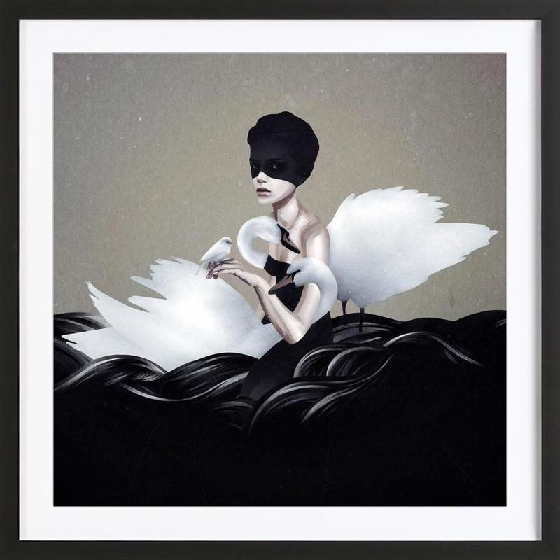 Let Go as Poster in Wooden Frame by Ruben Ireland | JUNIQE