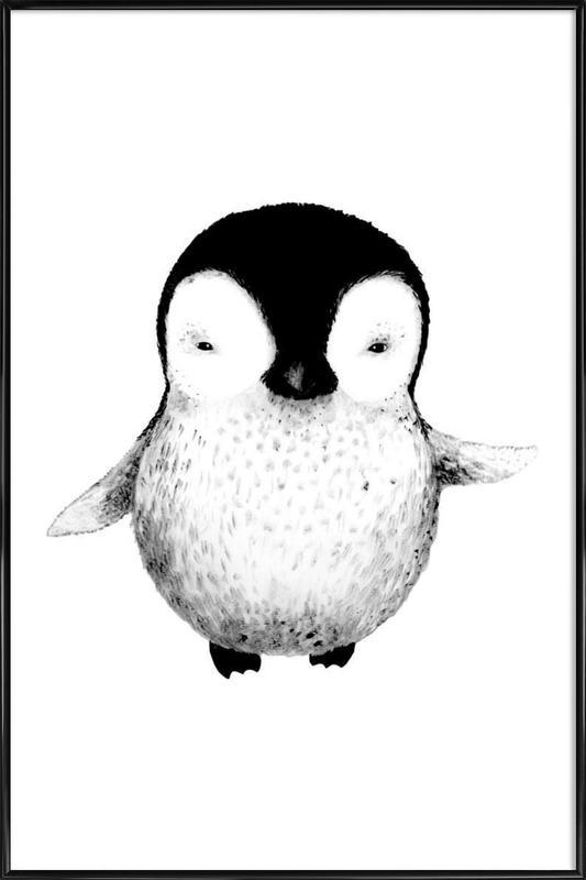 Penguin as Poster in Standard Frame by Tvinkla | JUNIQE