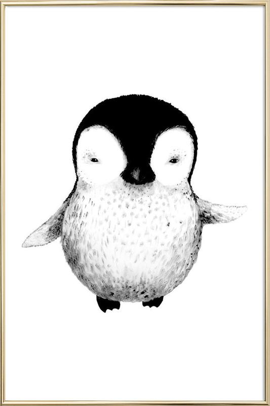 Penguin as Poster in Aluminium Frame by Tvinkla | JUNIQE