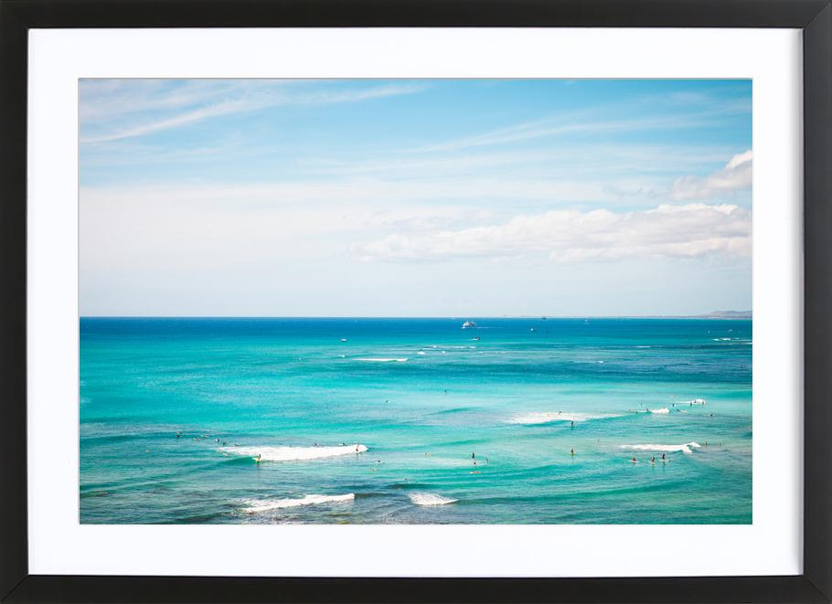 Hawaii As Poster In Wooden Frame By Flo Klein Juniqe
