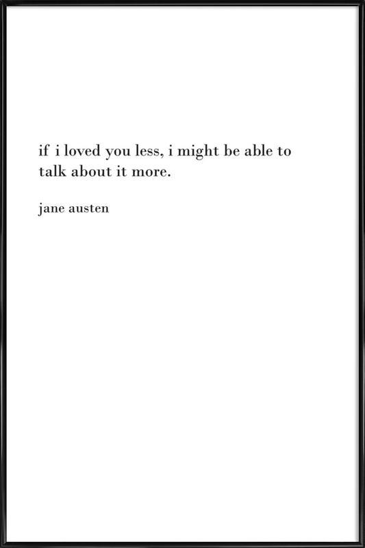 austen as Poster in Standard Frame by Cult Paper | JUNIQE