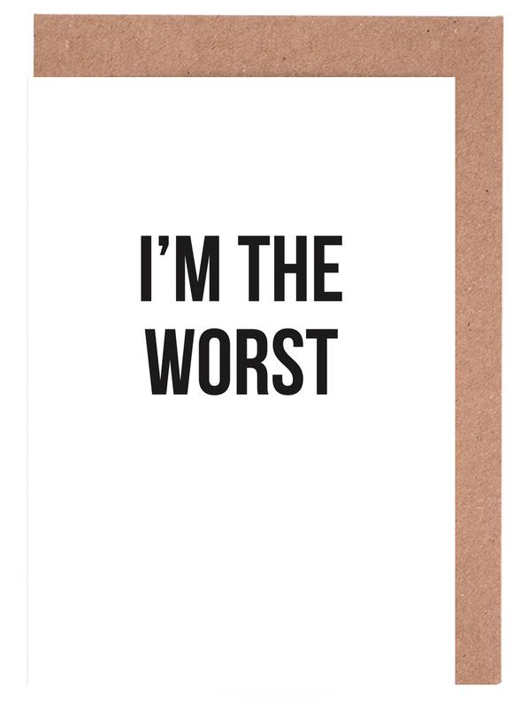 Im the worst as greeting card set by cult paper juniqe m4hsunfo