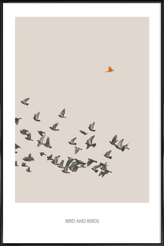 Bird And Birds as Poster in Standard Frame by Sarah Bühler | JUNIQE
