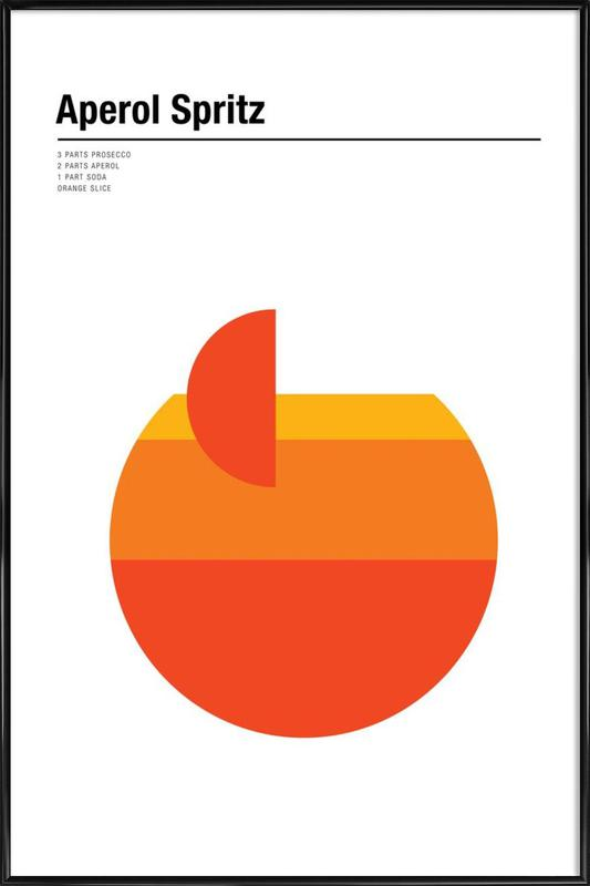 Aperol Spritz As Poster In Standard Frame By Nick Barclay