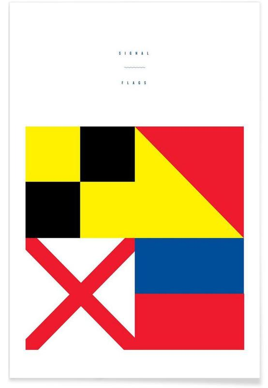 Signal Flags 2 as Premium Poster by Nick Barclay | JUNIQE