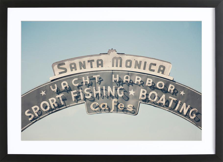 Santa Monica as Poster in Wooden Frame by Catherine McDonald | JUNIQE