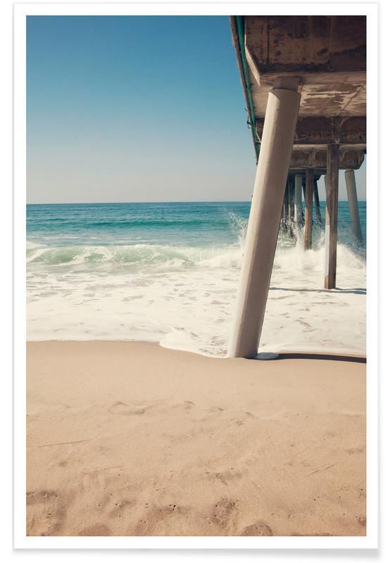 hermosa beach pier als premium poster von catherine. Black Bedroom Furniture Sets. Home Design Ideas