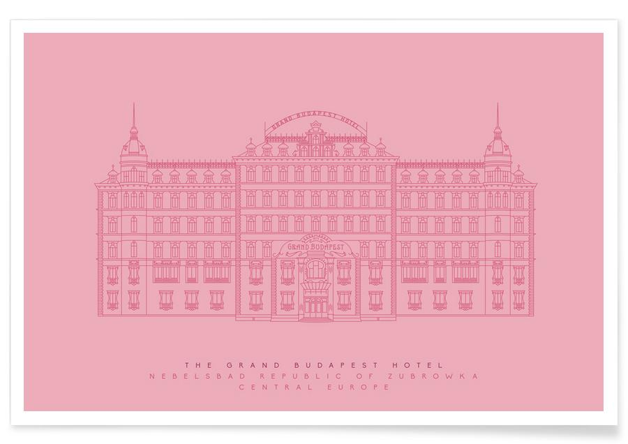 the grand budapest hotel pink as premium poster by mat voyce juniqe