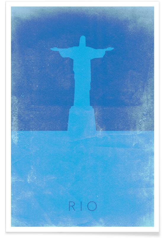 Rio As Premium Poster By Mat Voyce Juniqe