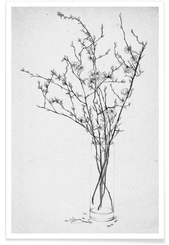 les fleurs 2 as premium posterthe white deer | juniqe