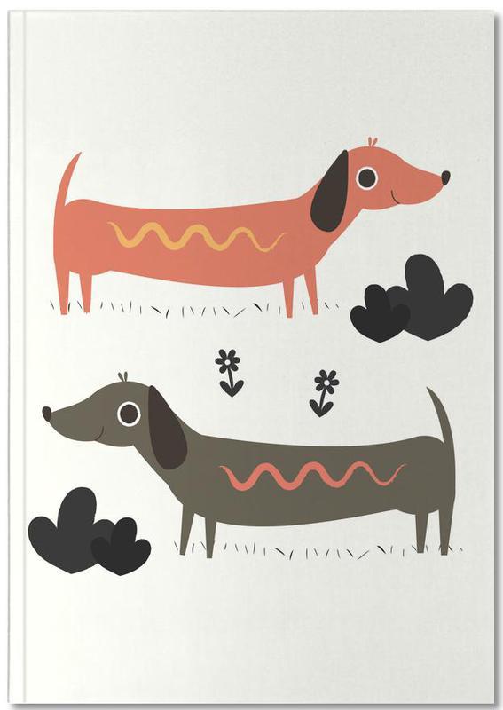 wiener dogs als premium notizbuch von karin bijlsma juniqe. Black Bedroom Furniture Sets. Home Design Ideas