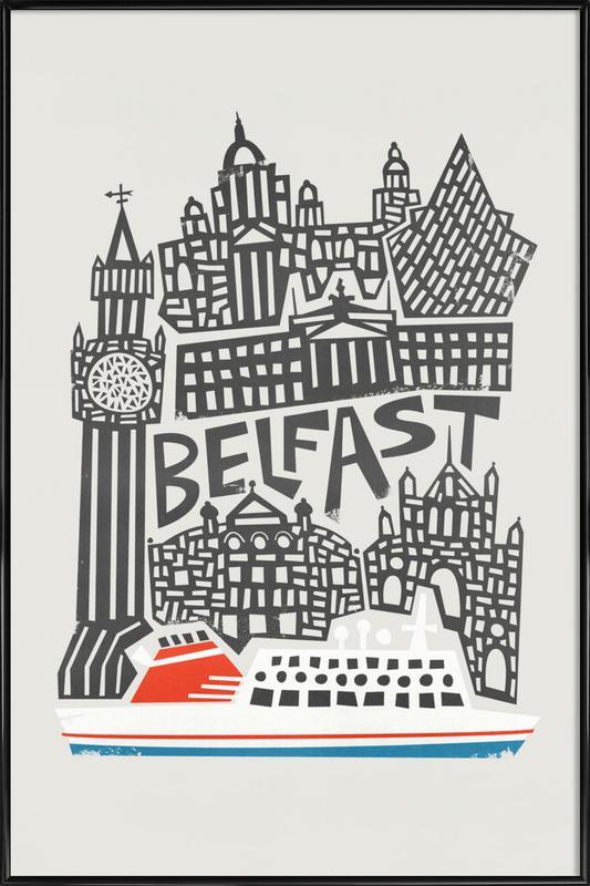 Belfast as Poster in Standard Frame by Fox & Velvet | JUNIQE UK