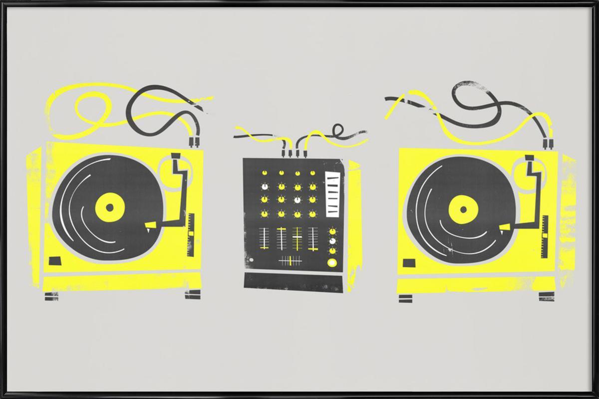 DJ Decks as Poster in Standard Frame by Fox & Velvet   JUNIQE